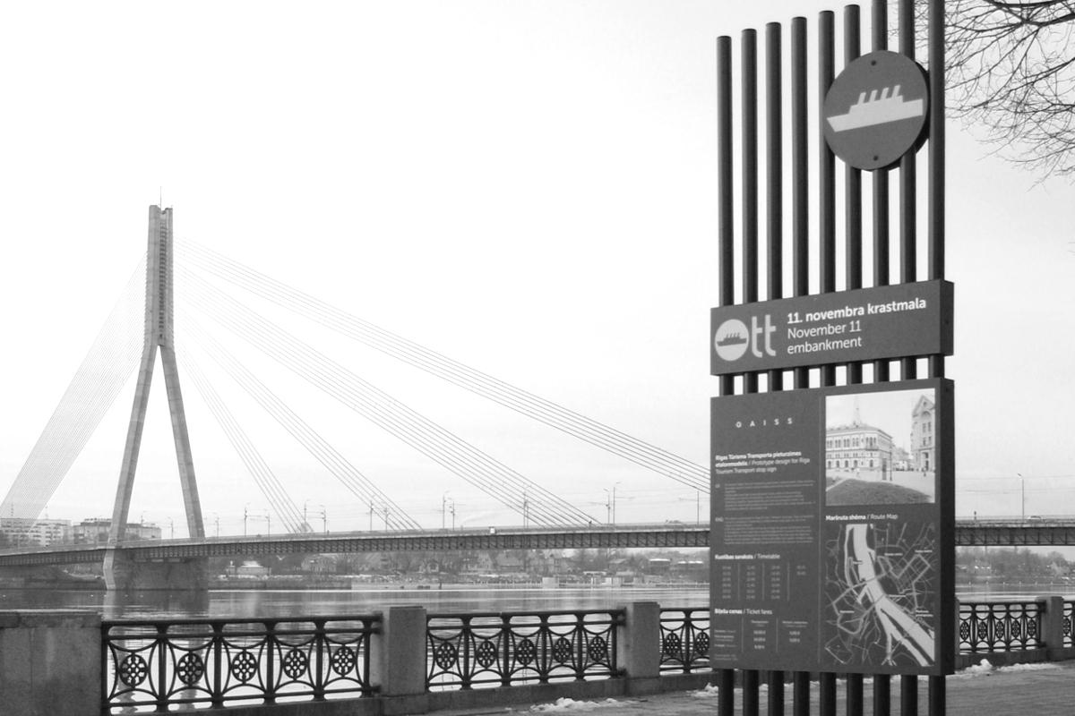 Riga Tourist Transport Signage
